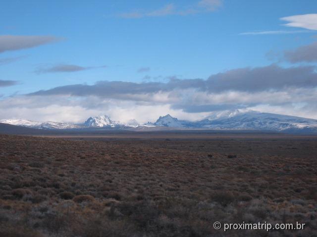 Primeiros picos nevados próximos a Bariloche