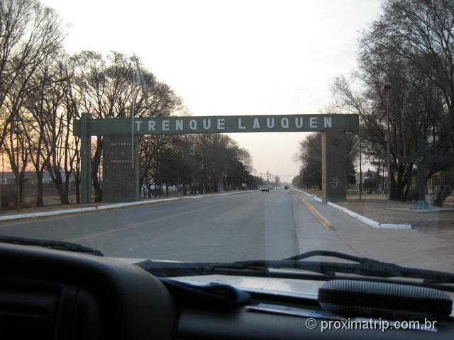 Trenque Lauquen - entrada da cidade