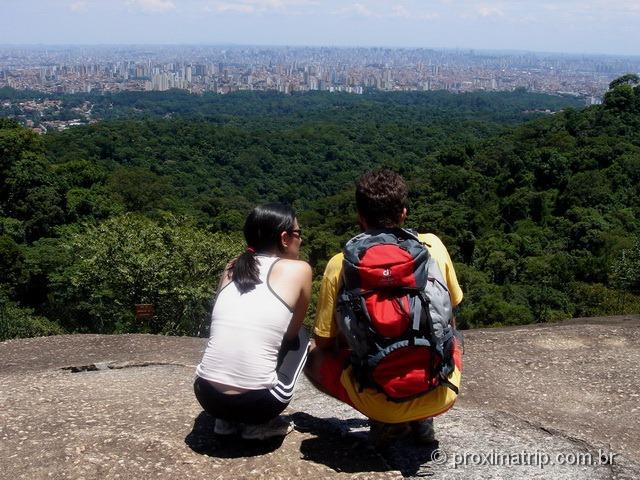 Pedra Grande - PQ Estadual da Serra da Cantareira - vista da cidade de São Paulo