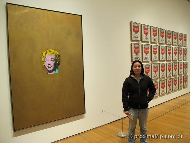 MoMA: Gold Marilyn Monroe e Campbell's soup cans – Andy Warhol