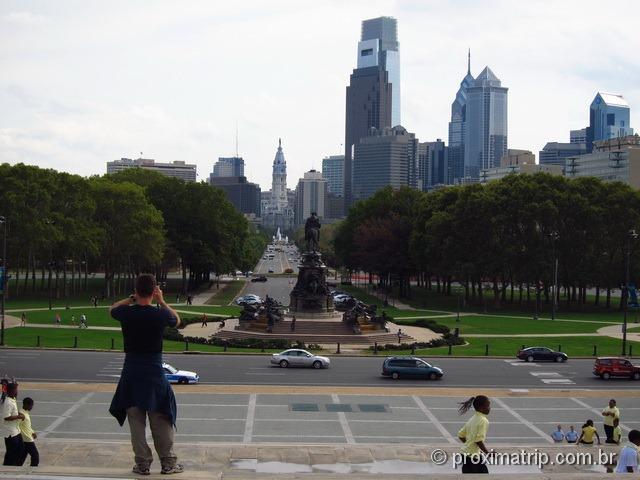 Vista da cidade da Philadelphia - Museu de Arte da Philadelphia