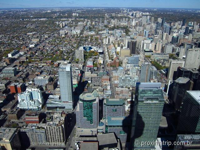 Vista da cidade de Torronto da CN TOWER