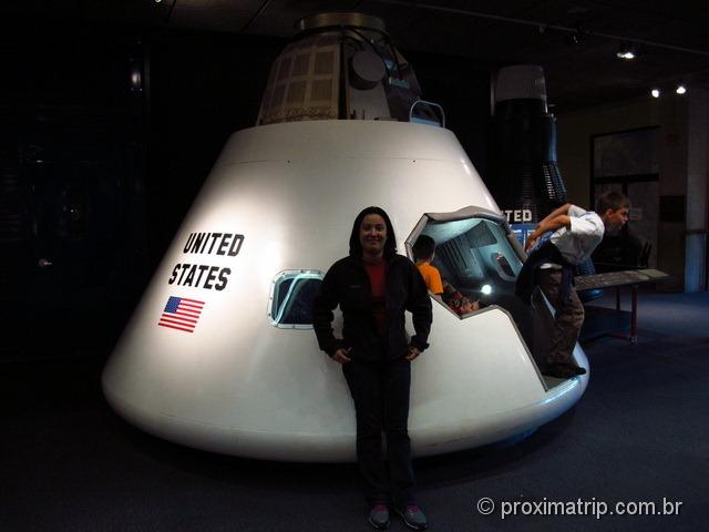 Museu de ciências de Boston - módulo de sobrevivência lunar