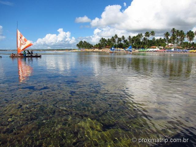 recifes de coral e águas cristalinas em porto de galinhas - foto 02