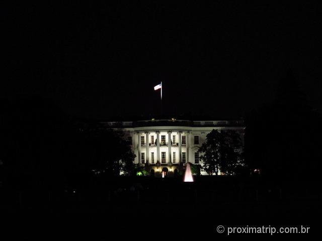 Casa Branca a noite - Washington DC
