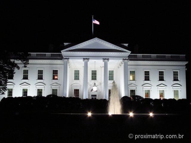 Casa Branca a noite - fachada - Washington DC