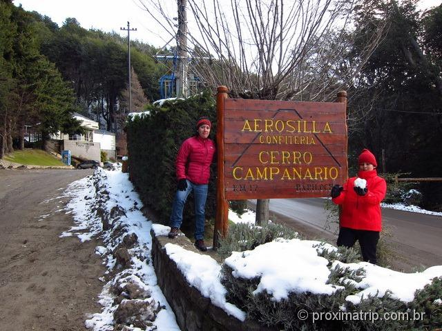 Localização da Aerosilla Cerro campanario - Bariloche