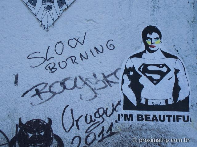 grafite no Muro de Berlim - East Side Gallery - 04 - superman
