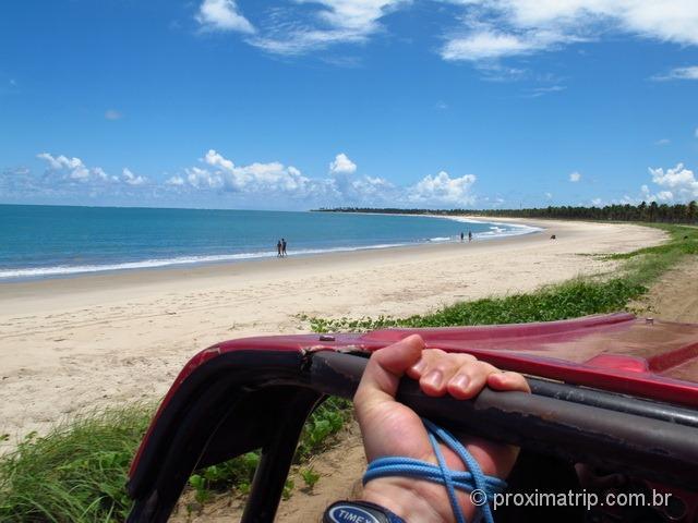 indo de buggy de Porto de galinhas até a praia de Maracaípe
