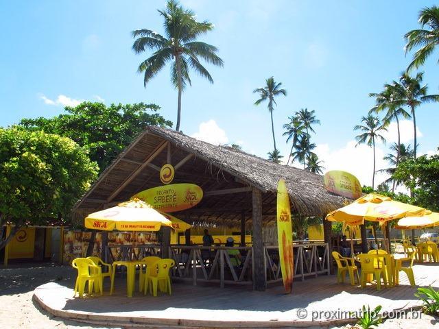 Restaurante Recanto Saberé na praia de maracaípe, em Porto de Galinhas