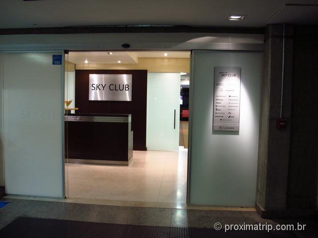 Entrada da Sala Vip Mastercard Black no Aeroporto de Guarulhos - Localização