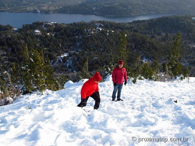 Brincando com neve no Cerro Campanario - Bariloche