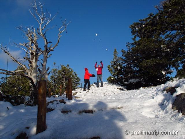 Brincando com neve no Cerro Campanario (foto 2) - Bariloche