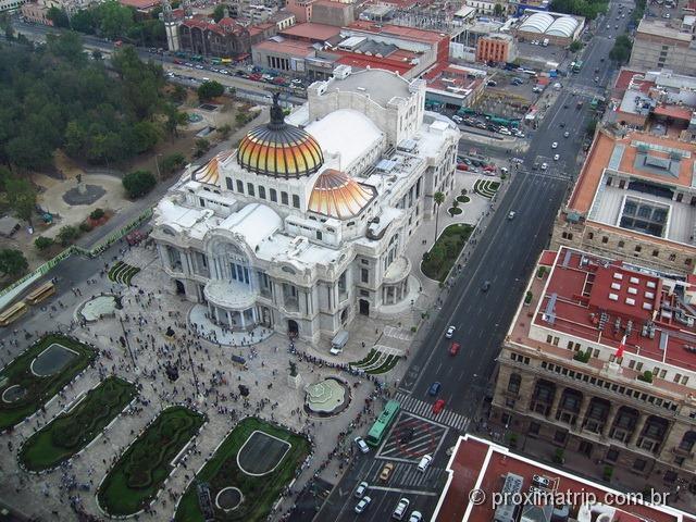 Palácio das Bellas Artes visto da Torre Latinoamericana - Cidade do México