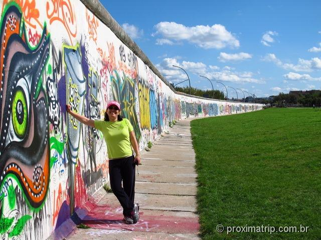 grafites no Muro de Berlim - East Side Gallery