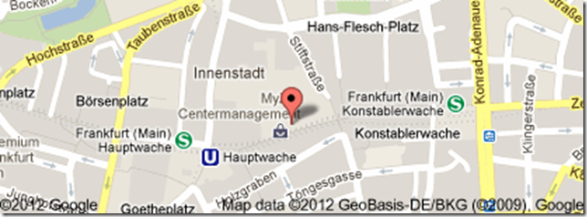 mapa My Zeil - Frankfurt