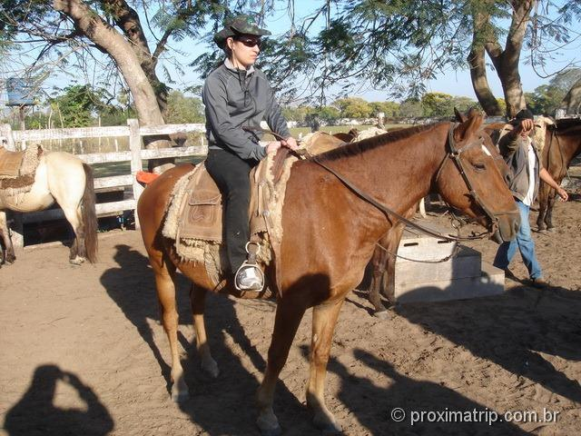 passeio a cavalo feito na fazenda Xaraés - Pantanal