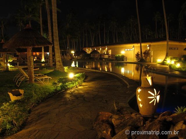 Grand Oca Maragogi Resort - antigo miramar - foto da piscina a noite