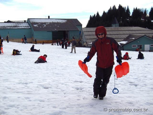 Tríneos (trenózinhos) alugados no Cerro Catedral - Bariloche