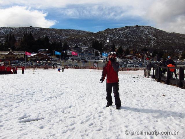 Brincando com a neve no Cerro Catedral - Bariloche