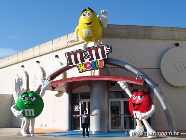 entrada da Loja M&Ms no Shopping Florida Mall - compras em Orlando - Resumão