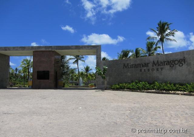 entrada do Grand Oca Maragogi Resort