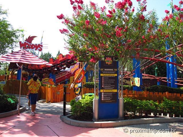 mini montanha russa do pica pau - Parque Universal Studios em Orlando