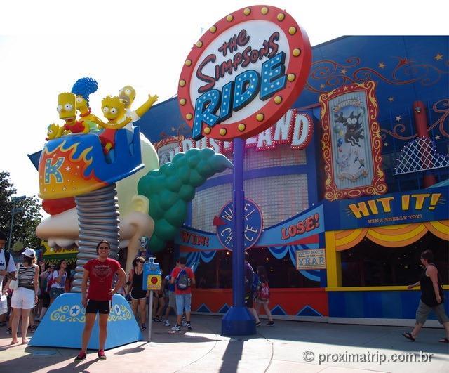 """Atração do """"The Simpsons Ride"""" - Parque Universal Studios em Orlando"""
