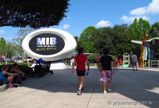 Brinquedo do MIB - Man in Black - Parque Universal Studios em Orlando