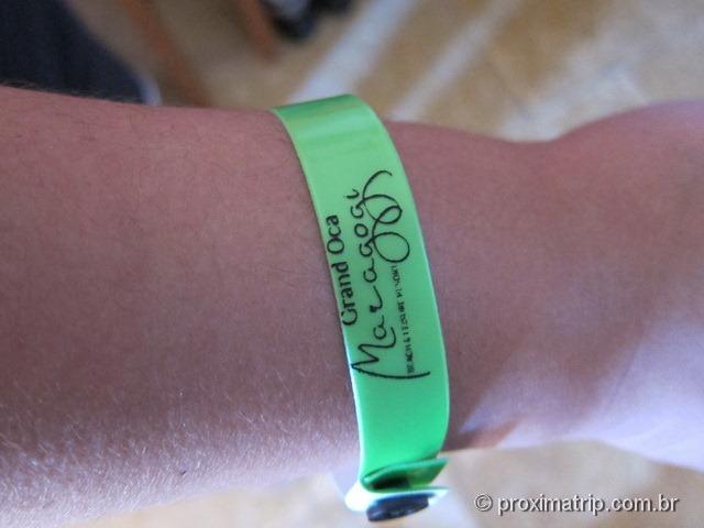 pulseira all-inclusive do Grand Oca Maragogi Resort