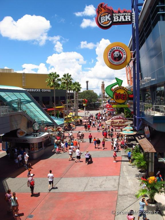 Universal City Walk Orlando – onde e o que comer