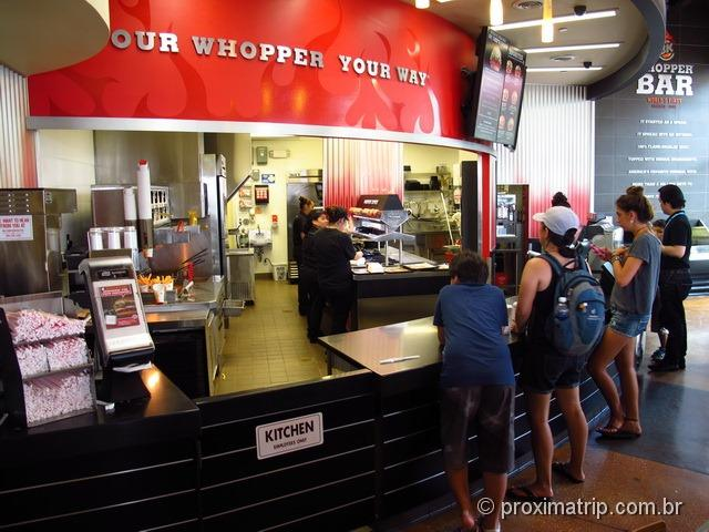 Universal City Walk – onde comer - Burguer King Whopper Bar