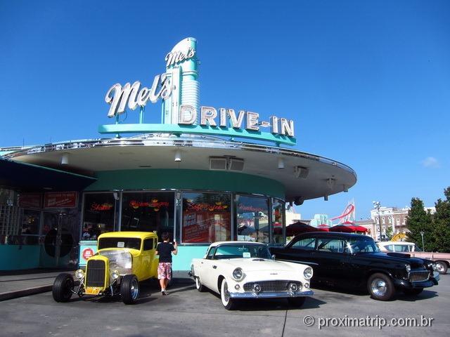 carros antigos - Parque Universal Studios em Orlando