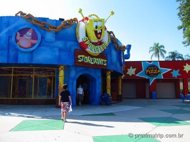 Bob Esponja - Parque Universal Studios em Orlando