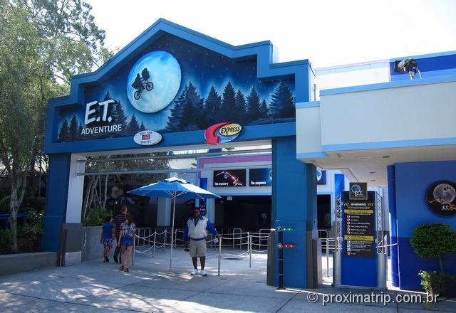 Brinquedo do E.T Adventure - Parque Universal Studios em Orlando