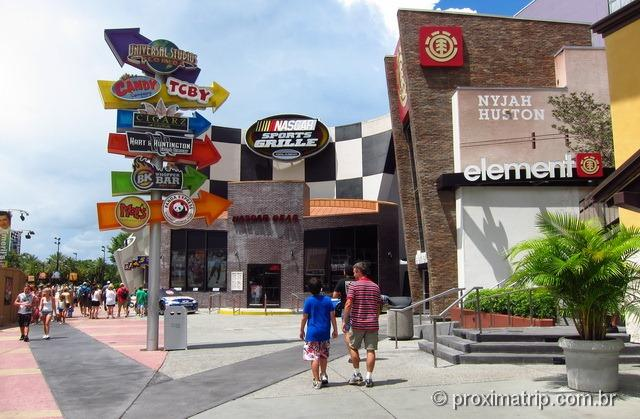 Universal City Walk – onde comer - nascar sports grille