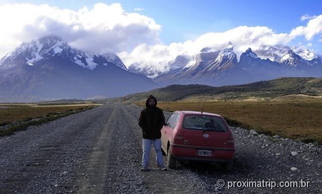Estrada de ripio - Parque Nacional Torres del Paine - Patagônia Chilena