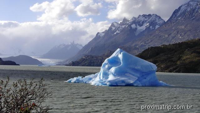 Mini iceberg no Lago Grey - Torres del Paine - Patagônia Chilena