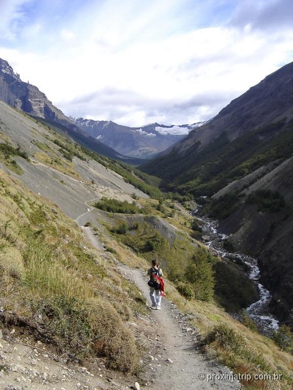 trilha do Mirador de Las Torres (quilômetro 2)- Torres del Paine