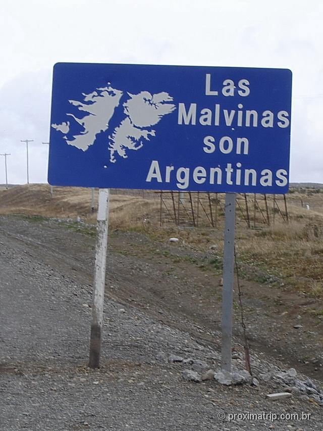 de Puerto Natales a Ushuaia - Placa: Las Malvinas son Argentinas