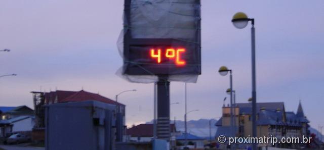 Puerto Natales - 4 graus celcius