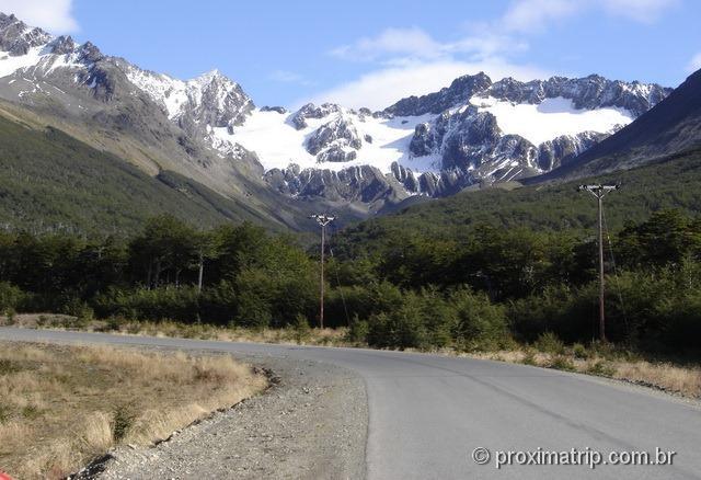 Rua de acesso ao Glaciar Martial, em Ushuaia