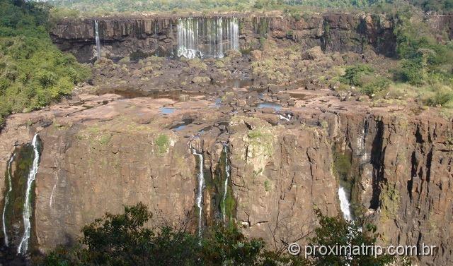 Cataratas do Iguaçu em época de seca (julho)