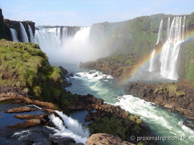 Garganta do diabo - foto da passarela do lado brasileiro - Foz do Iguaçu