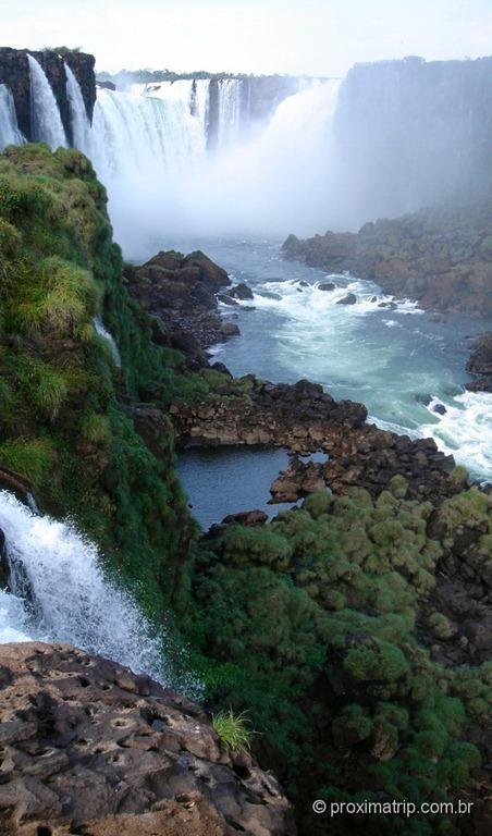 Garganta do diabo (julho) - foto da passarela do lado brasileiro - Foz do Iguaçu