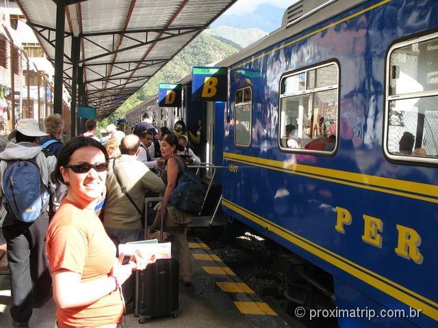 Aguas Calientes - de trem até Machu Picchu - Peru