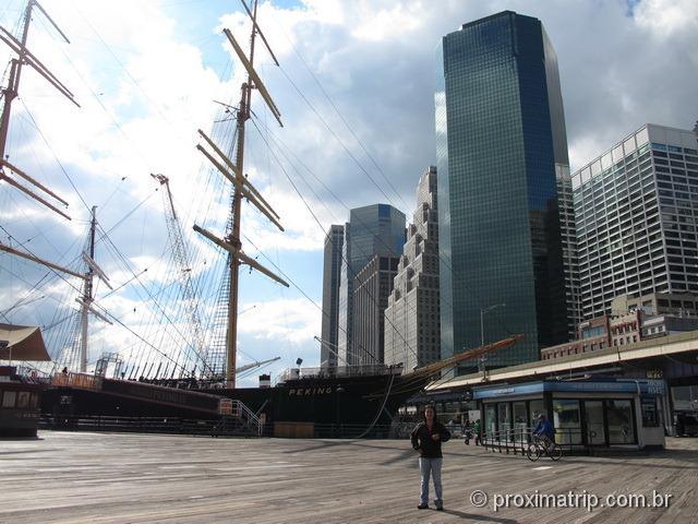Foto no Pier 17 - Nova York