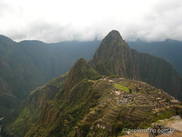 vista clássica de Machu Picchu - Peru