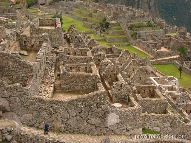 Sítio arqueológico de Machu Picchu - detalhes das construções