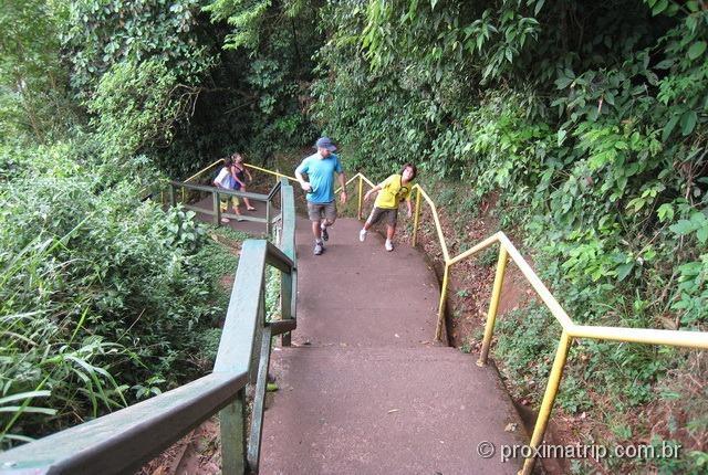 Parque Nacional Foz do Iguaçu - escadas